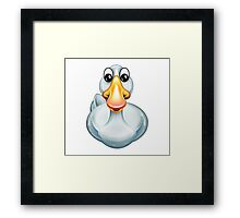Happy Goose Cartoon Character Framed Print