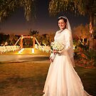 Bride and Chuppah by Aharon Hyman