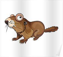 Groundhog Cartoon Character Poster