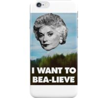 I Want to Bea-lieve iPhone Case/Skin