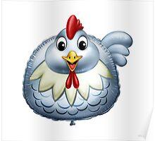 Happy Chicken Cartoon Character Poster