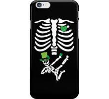 Pregnant Leprechaun Skeleton T Shirt St. Patrick's Day  iPhone Case/Skin