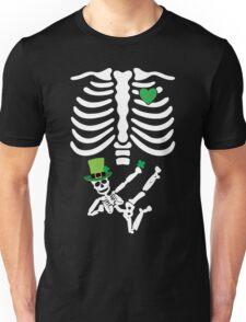 Pregnant Leprechaun Skeleton T Shirt St. Patrick's Day  Unisex T-Shirt