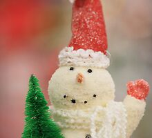 snowman and tree by SylviaCook