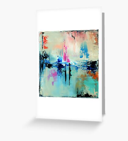 Blue Art Painting, Abstract Painting,Abstract print,  Wall Art, Wall Decor, Modern  Art, Office Art decor, Home Decor Greeting Card