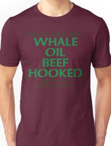 Whale Oil Beef Hooked St. Patricks Day Design Unisex T-Shirt