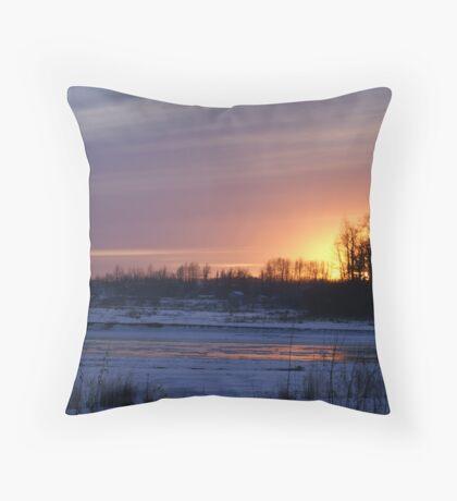 Matanuska Valley Alpenglow Throw Pillow