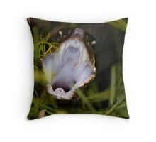 Cottonmouth Strikes Throw Pillow