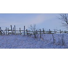 Fence after a storm.... Photographic Print