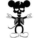 Mickey Mouse Skeleton by huliodoyle
