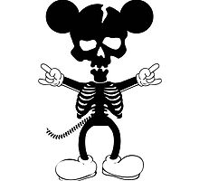 Mickey Mouse Skeleton by huliodoyle