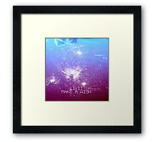11:11 Make a Wish Framed Print
