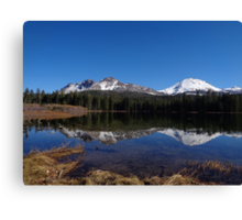 Mt. Lassen & Chaos Crags Reflections Canvas Print