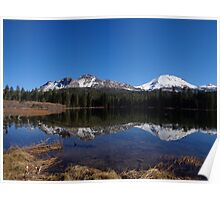 Mt. Lassen & Chaos Crags Reflections Poster