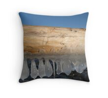 Baikal Boat Ramp Throw Pillow
