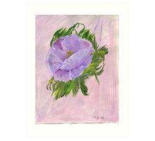 The Purple Poppy Art Print