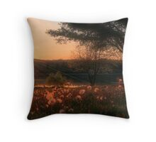Dandelion Fields Forever Throw Pillow
