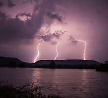 Lightning over Independence Creek by Andrew White