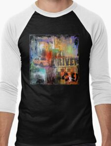 New York Times Square and Taxi Series #49 Men's Baseball ¾ T-Shirt