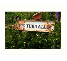 Gold Country Street Sign Art Print