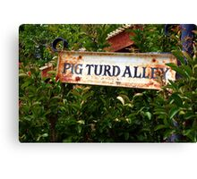 Gold Country Street Sign Canvas Print