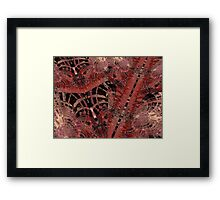 Sazzrip Linear Fractal Framed Print