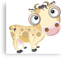 Mooo Cow Cartoon Character Canvas Print