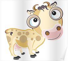 Mooo Cow Cartoon Character Poster