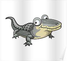 Happy Crocodile Cartoon Character Poster