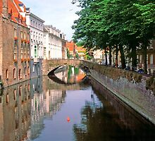 Bruges Canal Again 2002 by Priscilla Turner