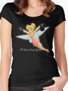 Tinkerbell Lifting Kettlebells Women's Fitted Scoop T-Shirt