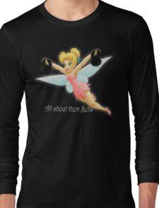 Tinkerbell Lifting Kettlebells Long Sleeve T-Shirt