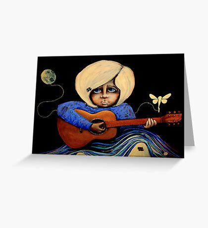 Midnight Blues Greeting Card