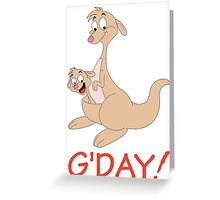 G' DAY Greeting Card
