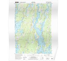 Maine USGS Historical Map Phippsburg 102877 2000 24000 Poster