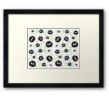 Soot Sprite with stars Framed Print