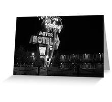 Palms Motor Hotel, Portland Oregon Greeting Card
