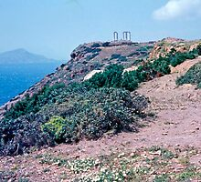 Climbing Cape Sounion, Attica, Greece by Priscilla Turner