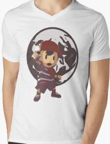 Ninten Mens V-Neck T-Shirt