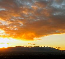 Sunset Over SLC, UT by Christopher Carlson