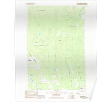 Maine USGS Historical Map Picard Brook 102878 1986 24000 Poster