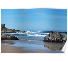 Low Tide - Redhead Beach NSW Poster