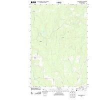 Maine USGS Historical Map Picard Brook 20110831 TM Photographic Print