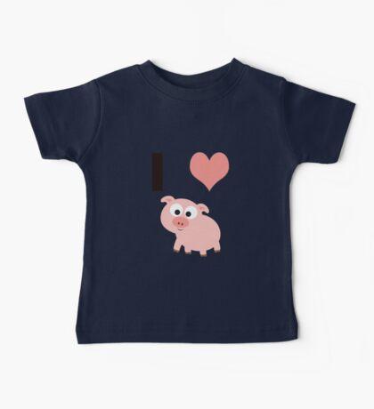 I heart pigs Baby Tee