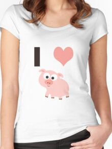 I heart pigs Women's Fitted Scoop T-Shirt