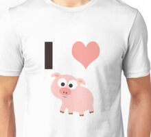 I heart pigs Unisex T-Shirt