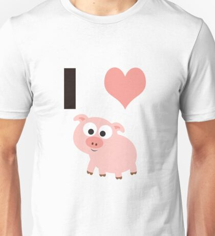 I heart pigs Unisex T-Shirt