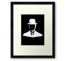 son of man appleless - creme Framed Print