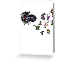 Breath of fire battle Greeting Card