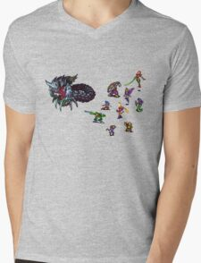 Breath of fire battle Mens V-Neck T-Shirt